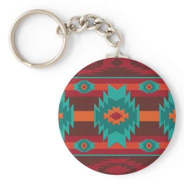Aztec Themed Southwestrn navajo geometric pattern. keychain