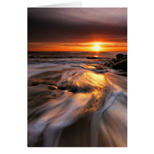 Southwold Beach Sunrise 4. Greeting Card