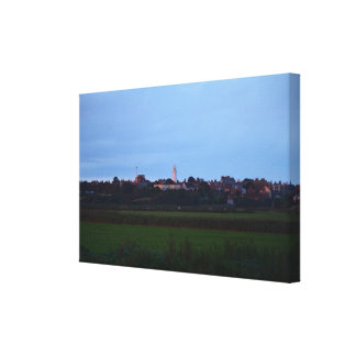 Southwold Lighthouse At Dusk Stretched Canvas Print
