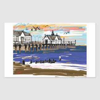 Southwold Pier Rectangular Sticker