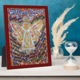 Soutwest Cancer Angel Painting Poem Plaque