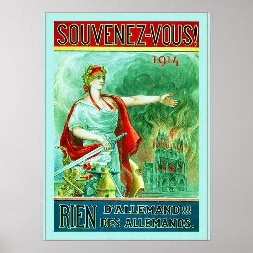 Souvenez-vous! ~ Vintage French World War 1 Posters