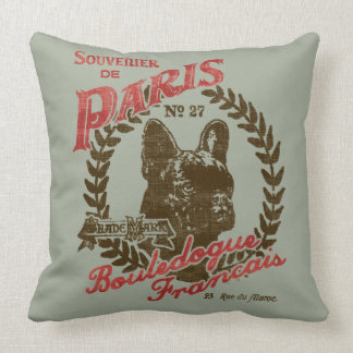 Souvenier de Paris Throw Pillow