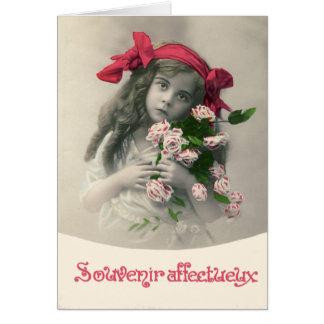 Souvenir Affectueux Vintage French Card