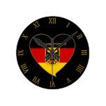 Souvenir Bandera nacional y escudo de ALEMANIA Reloj