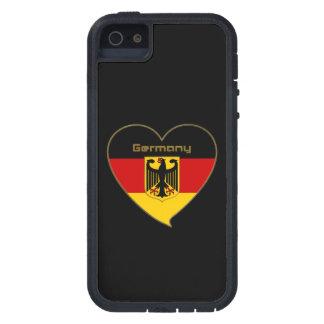Souvenir de ALEMANIA bandera nacional y escudo Funda Para iPhone 5 Tough Xtreme