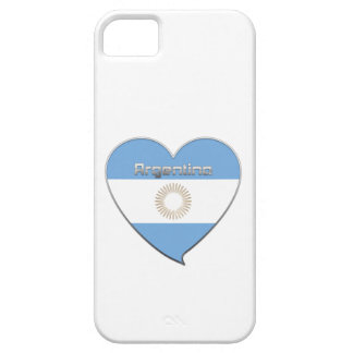 Souvenir de Corazón Bandera nacional de ARGENTINA Funda Para iPhone SE/5/5s