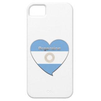 Souvenir de Corazón Bandera nacional de ARGENTINA iPhone 5 Fundas