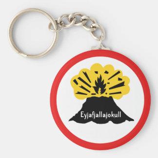 Souvenir of Eyjafjallajokull Your Volcano Keyring Basic Round Button Keychain