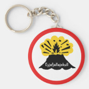 Souvenir of Eyjafjallajokull Your Volcano Keyring Basic Round Button Keychain at Zazzle