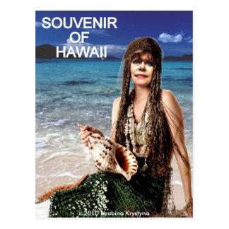 SOUVENIR OF HAWAII MERMAID 2 POSTCARD
