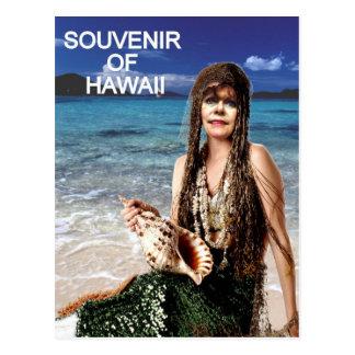 SOUVENIR OF HAWAII MERMAID POSTCARD