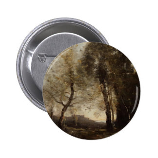 Souvenir of Italy by Camille Corot Pinback Buttons