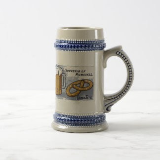 Souvenir of Milwaukee, beer and pretzels Beer Stein