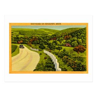 Souvenir of Pickney, MI Vintage Postcard