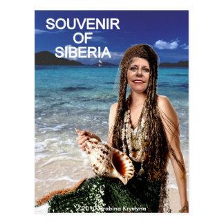 SOUVENIR OF SIBERIA MERMAID POSTCARD