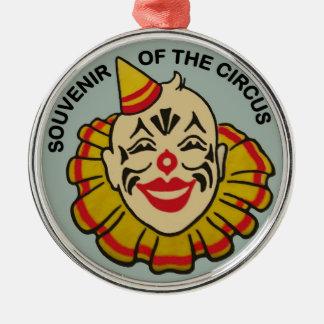 Souvenir of the Circus Round Metal Christmas Ornament