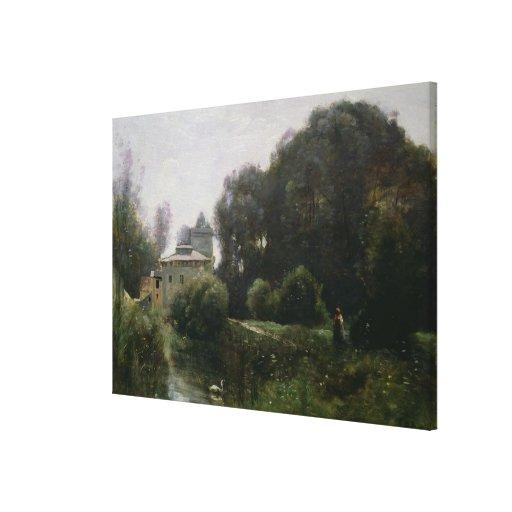 Souvenir of the Villa Borghese, 1855 Canvas Print