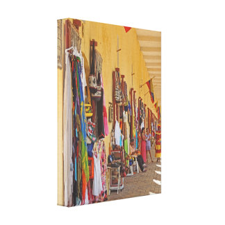 Souvenir Shops in Cartagena Colombia Canvas Print