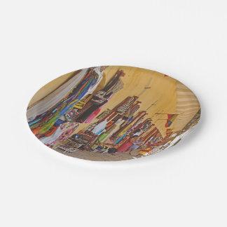 Souvenir Shops in Cartagena Colombia Paper Plate