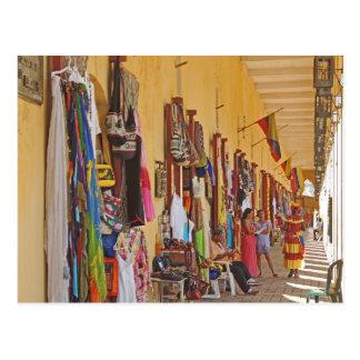 Souvenir Shops in Cartagena Colombia Postcard