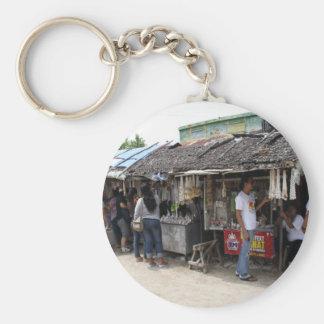 Souvenir stalls in Sulangan Basic Round Button Keychain