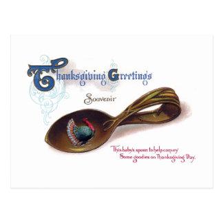 Souvenir Thanksgiving Baby Spoon Postcard