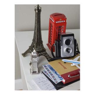 Souvenirs and camera postcard