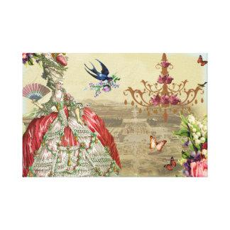 Souvenirs de Versailles Stretched Canvas Print