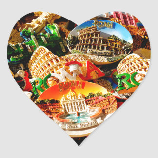 Souvenirs from Rome Heart Sticker