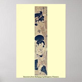 Souvenirs from Zoshigaya by Kitagawa, Utamaro Poster