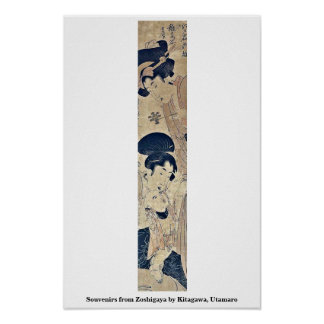 Souvenirs from Zoshigaya by Kitagawa, Utamaro Posters