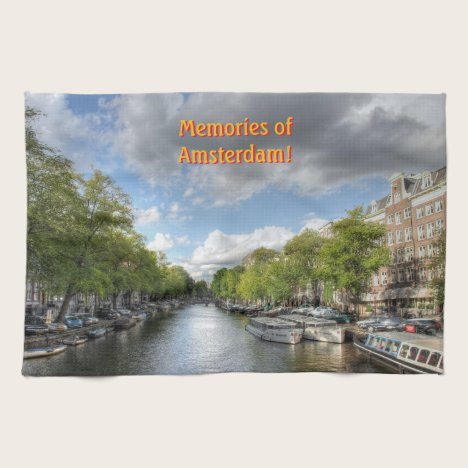Souvenirs of Amsterdam, Singel Canal View Towel