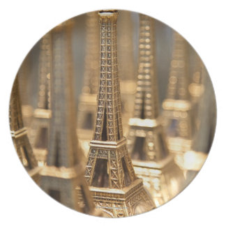 Souvenirs of Eiffel Tower Melamine Plate