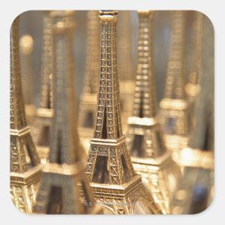 Souvenirs of Eiffel Tower Square Sticker
