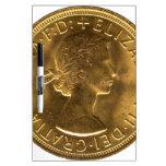 Sovereign 1963 del oro pizarra blanca