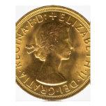 Sovereign 1963 del oro plantilla de membrete