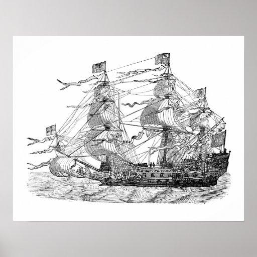Sovereign del HMS de los mares Póster