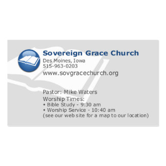Sovereign Grace Church - For Whom Did Christ Die? Business Card Templates
