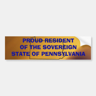 Sovereign PA Bumper Sticker