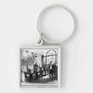 Sovereign Weighing Machine, Bank of England Silver-Colored Square Keychain