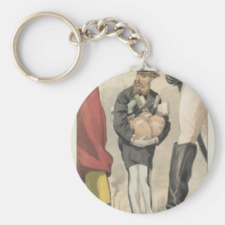 Sovereigns No.30 Caricature of Leopold II Keychain