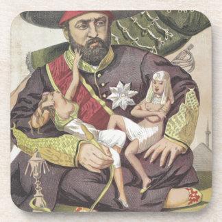 Sovereigns No.50 Caricature of Sultan Abdul Aziz Drink Coaster