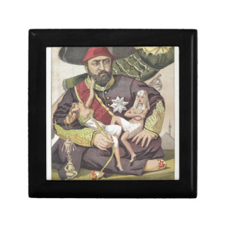 Sovereigns No.50 Caricature of Sultan Abdul Aziz Jewelry Box