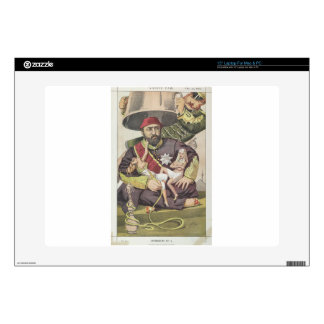 Sovereigns No.50 Caricature of Sultan Abdul Aziz Laptop Decal