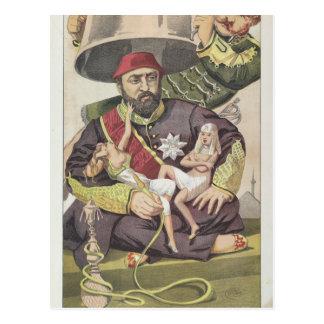 Sovereigns No.50 Caricature of Sultan Abdul Aziz Postcard