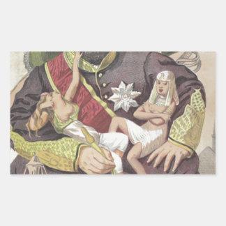 Sovereigns No.50 Caricature of Sultan Abdul Aziz Rectangular Sticker