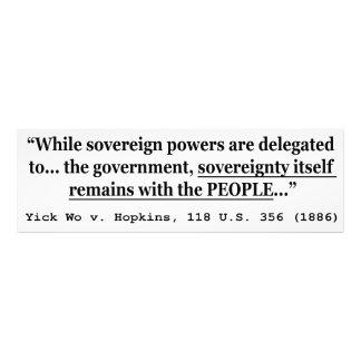 Sovereignty Yick Wo v Hopkins 118 U.S. 356 (1886) Photograph
