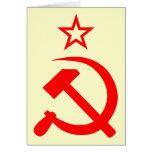 Soviet 2 greeting card