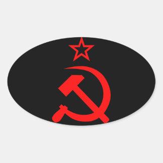 Soviet 2 oval sticker